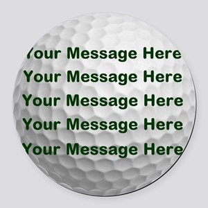 Personalize It, Golf Ball Round Car Magnet