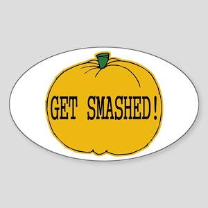 Halloween Drinking Humor Oval Sticker