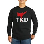 Taekwondo Long Sleeve Dark T-Shirt