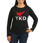 Taekwondo Women's Long Sleeve Dark T-Shirt