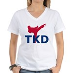 Taekwondo Women's V-Neck T-Shirt
