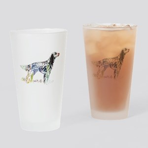 English setter Drinking Glass