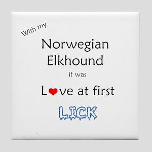 Elkhound Lick Tile Coaster