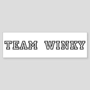 TEAM WINKY Bumper Sticker