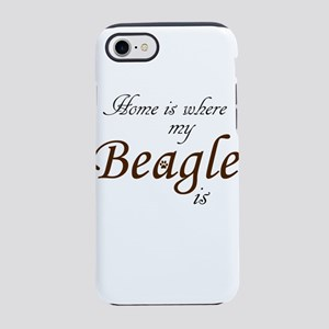 Home is Where My Beagle Is iPhone 8/7 Tough Case