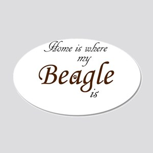 Home is Where My Beagle Is Wall Decal