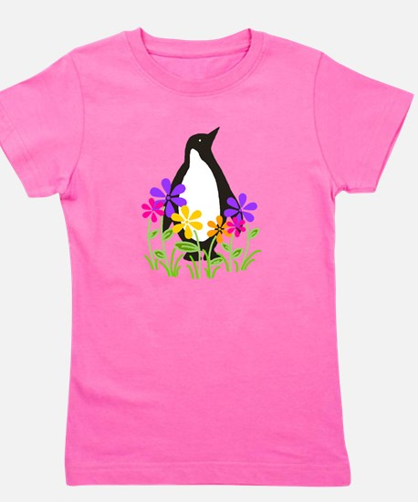 Cute Animals penguin Girl's Tee