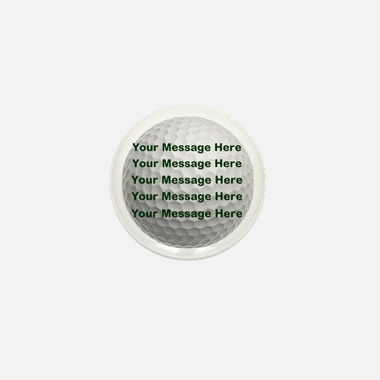 Personalize It, Golf Ball Mini Button (10 pack)
