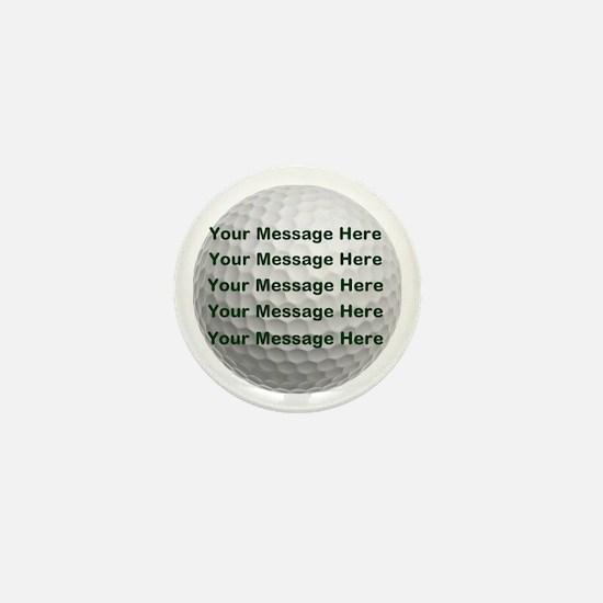 Personalize It, Golf Ball Mini Button