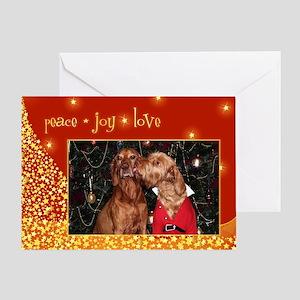 Vizsla Christmas Greeting Cards Cc006