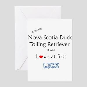 Toller Lick Greeting Card