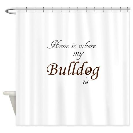 Unique Uga Bulldog Shower Curtain
