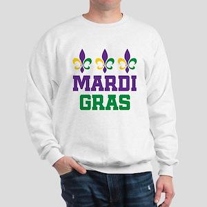 mardi gras trio w words Sweatshirt