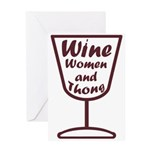 wine women and Greeting Card