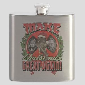 Make Christmas Great Again Trump Pence Flask