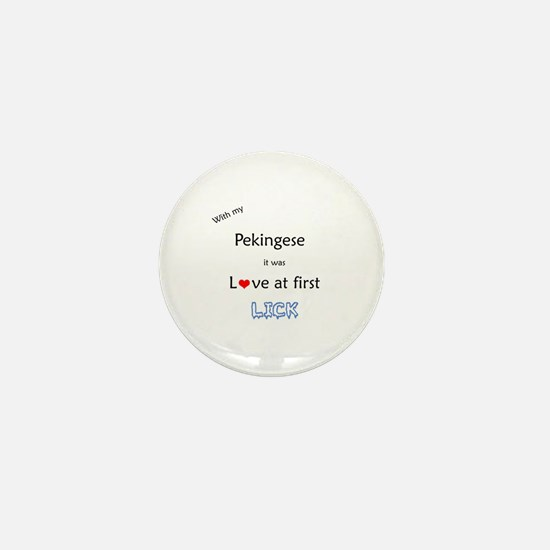 Pekingese Lick Mini Button