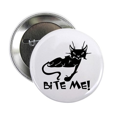 """Bite Me Cat 2.25"""" Button (100 pack)"""