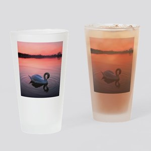 Swan on the lake Drinking Glass
