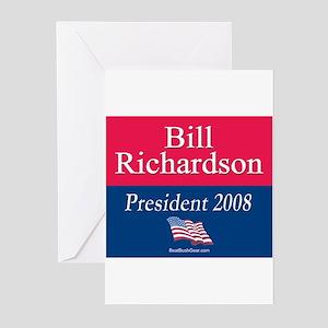 """Bill Richardson President"" Greeting Cards (10)"