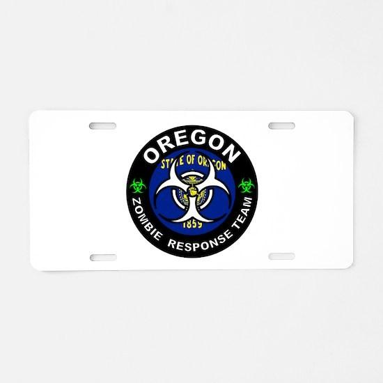 OR ZRT White Aluminum License Plate