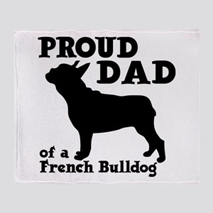 FRENCH DAD Throw Blanket
