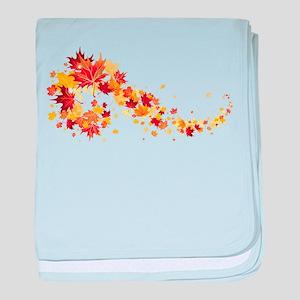 Leaf baby blanket