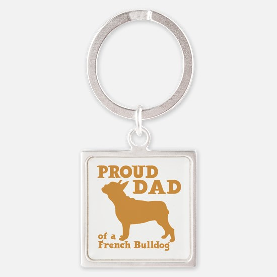 FRENCH DAD Square Keychain
