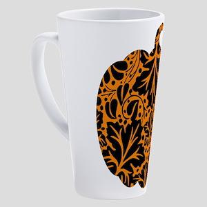 Damask Pattern Pumpkin 17 oz Latte Mug