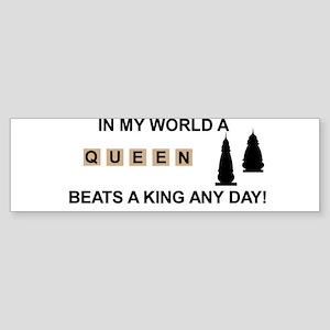 Scrabble Queen Bumper Sticker