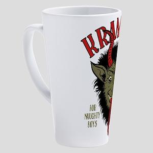 Krampus Face Naughty 17 oz Latte Mug