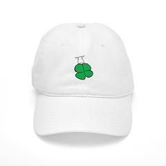 Lucky 4 Leaf Clover Cow Baseball Cap