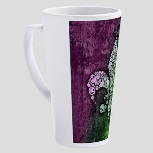 Skull Fleur De Lis 17 oz Latte Mug