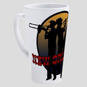 jazz_new 17 oz Latte Mug