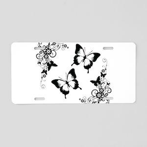 Butterflies Aluminum License Plate