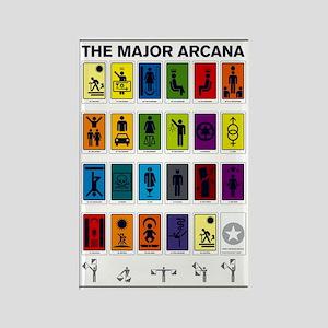 The Major Arcana Rectangle Magnet