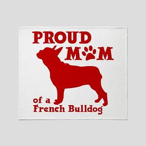 Frenchie Mom Throw Blanket