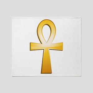Ankh-Symbol Throw Blanket