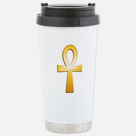 Ankh-Symbol Stainless Steel Travel Mug