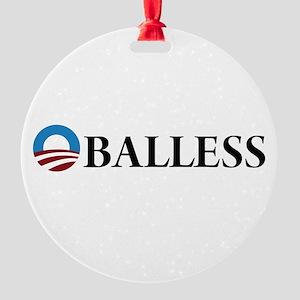 Obama Oballess Round Ornament