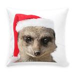 Santa Meerkat Everyday Pillow