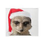 Santa Meerkat Throw Blanket