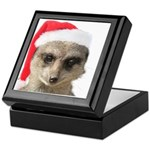 Santa Meerkat Keepsake Box