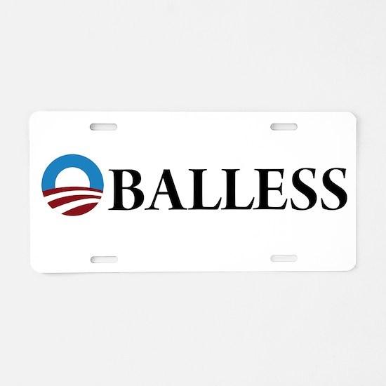 Obama Oballess Aluminum License Plate