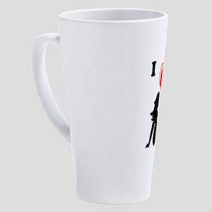 I Love Curves 17 oz Latte Mug