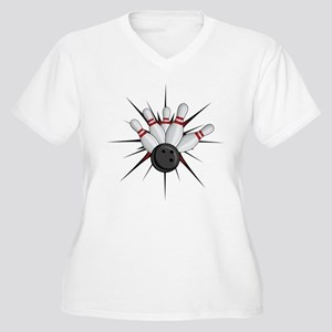 Bowling Strike Plus Size T-Shirt