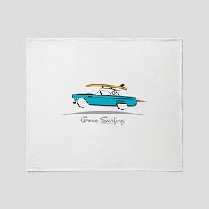 Ford Thunderbird Gone Surfing Throw Blanket