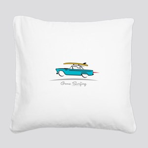 Ford Thunderbird Gone Surfing Square Canvas Pillow