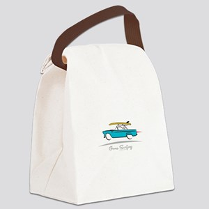 Ford Thunderbird Gone Surfing Canvas Lunch Bag
