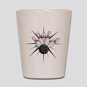 Bowling Strike Shot Glass