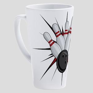 Bowling Strike 17 oz Latte Mug